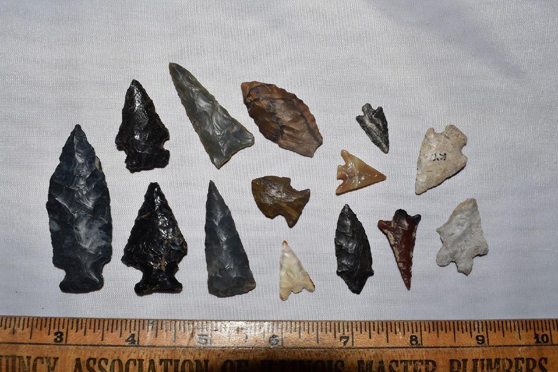 Nice lot of Arrowheads, USA, Some Gem Grade NW Coast