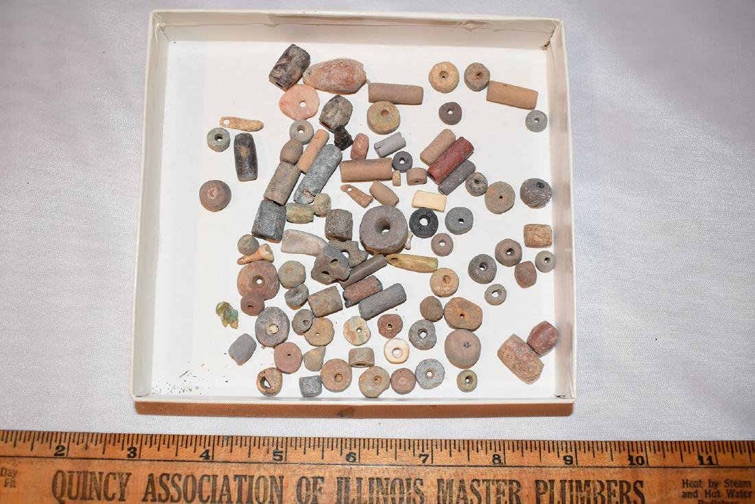Huge lot of Prehistoric Beads, Mostly Pre-Columbian /