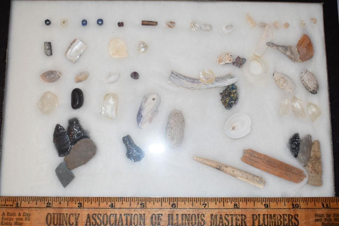 Lot of Anasazi Hohokam Relics, Arizona, Beads and Flint