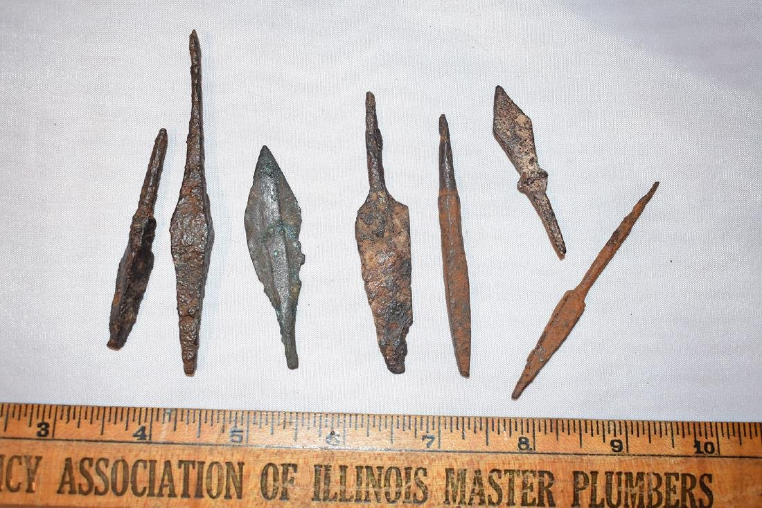 lot of Ancient Roman Spear Tips
