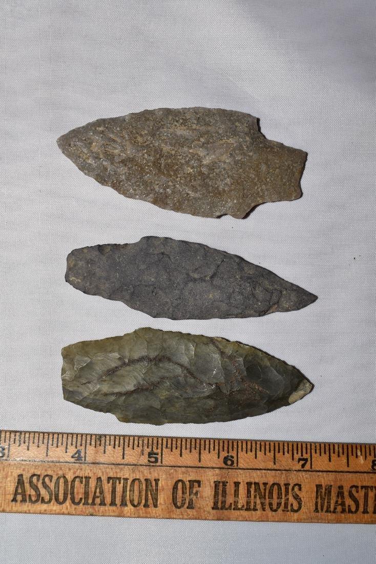 3 nice New England Arrowheads
