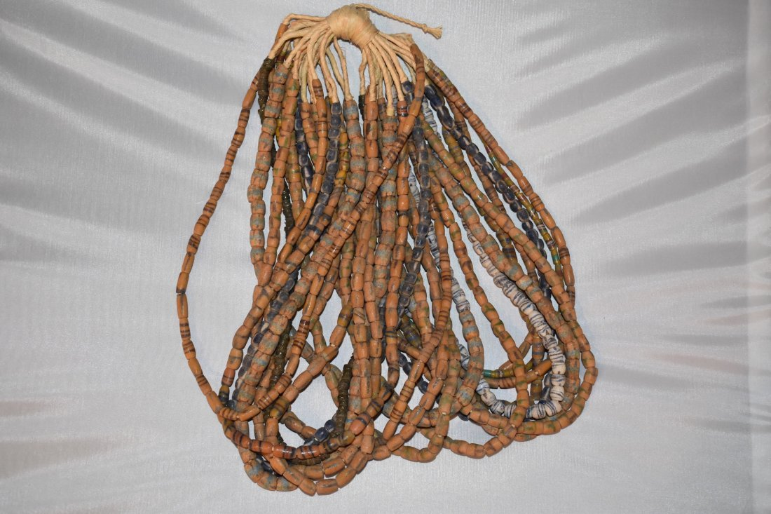 Lot of 20 historic African Necklaces apron 23 inches