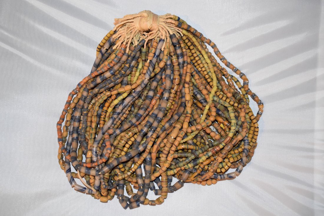 Lot of 50 African neolithic Necklaces, approx 23 inches