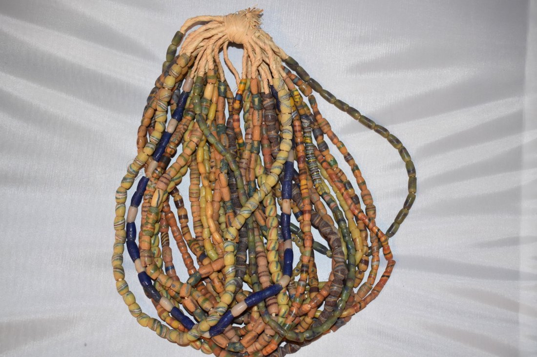 Lot of 20 African neolithic Necklaces, approx 23 inches