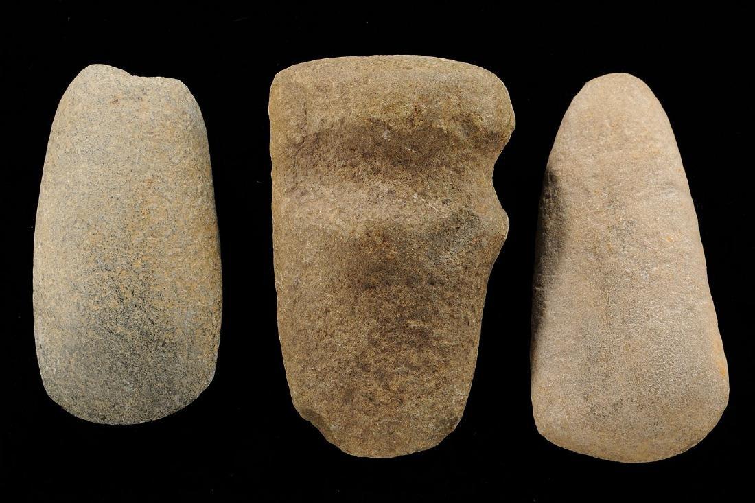Lot of 3 Hard-stone Relics, Missouri, Longest 4 inches
