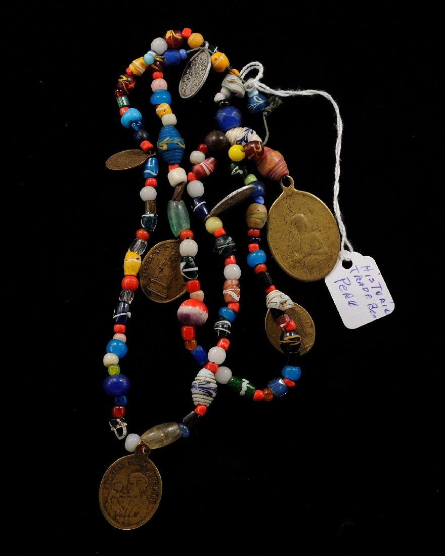 24 inches Strand of Historic Trade Beads, Peru