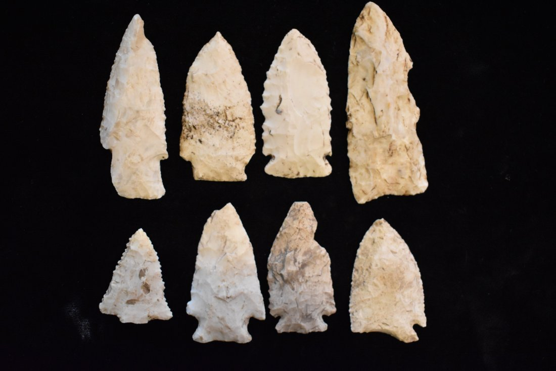 Lot of Arrowheads, Longest 3.25 inches
