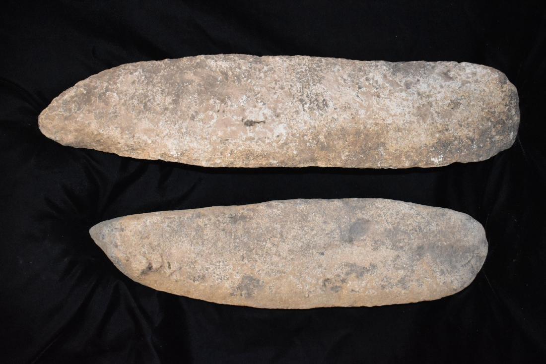 "Cache of 2 Limestone Spades, longest 23.1/2"", Jackson"