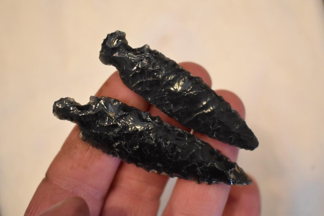 2 Obsidian Points, Modoc Co California
