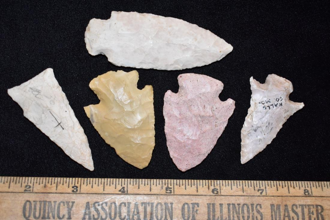Arrowheads out of the Boston Massachusetts Collection