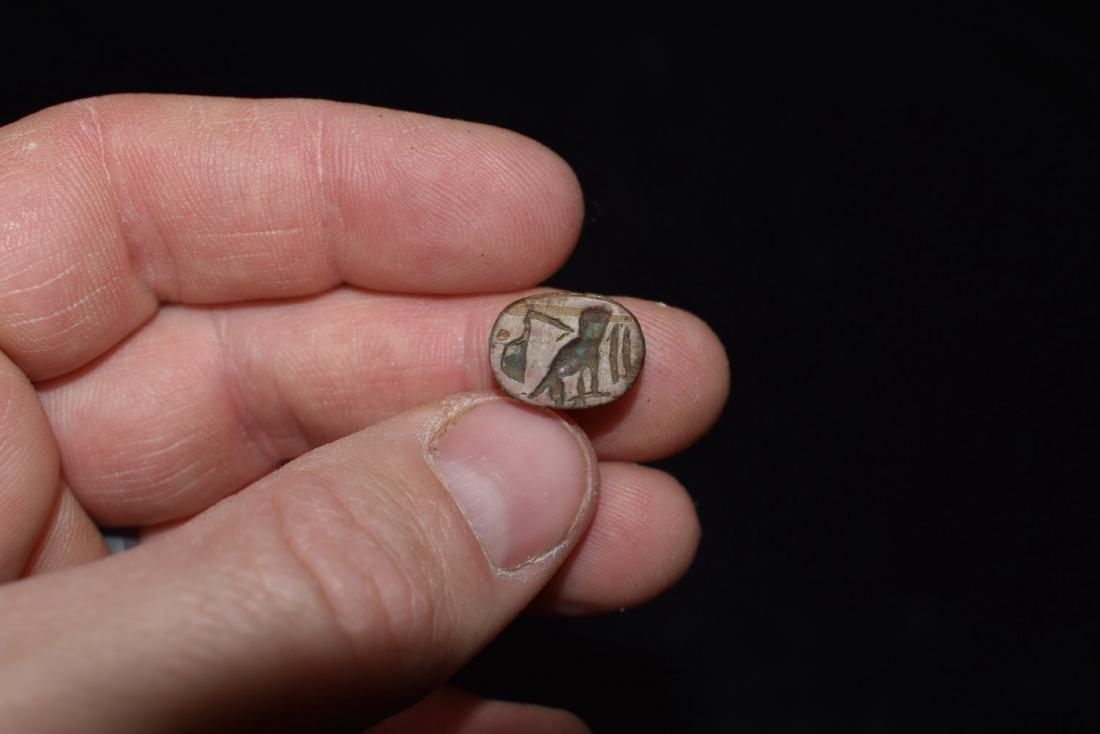 """1/2"""" Engraved Effigy Bead, Stylized"""