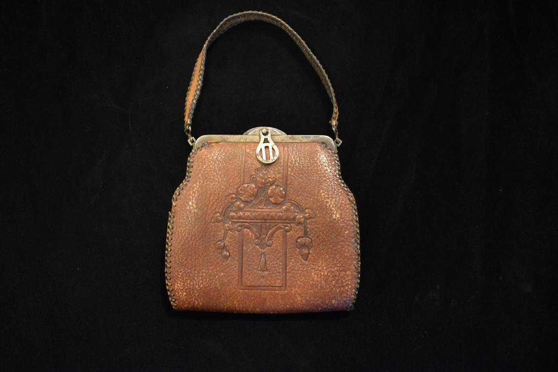 Early Leather Bag / Purse, Nice Design - 2