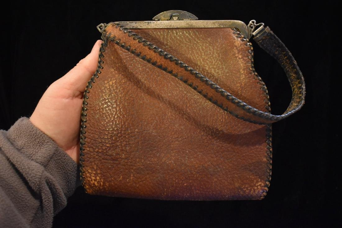 Early Leather Bag / Purse, Nice Design - 3