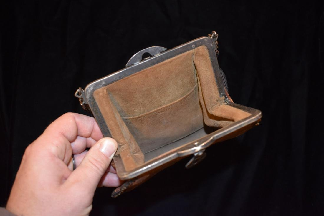 Early Leather Bag / Purse, Nice Design - 4