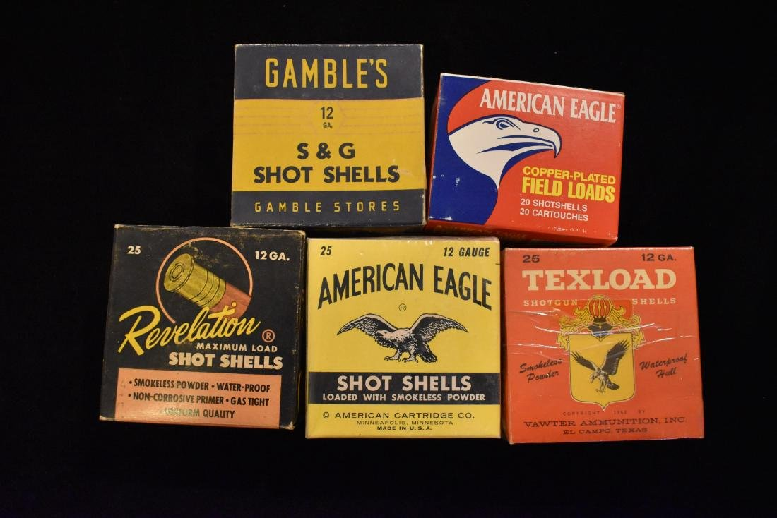 Lot of Antique / Vintage Shotgun Shell Boxes, No ammo