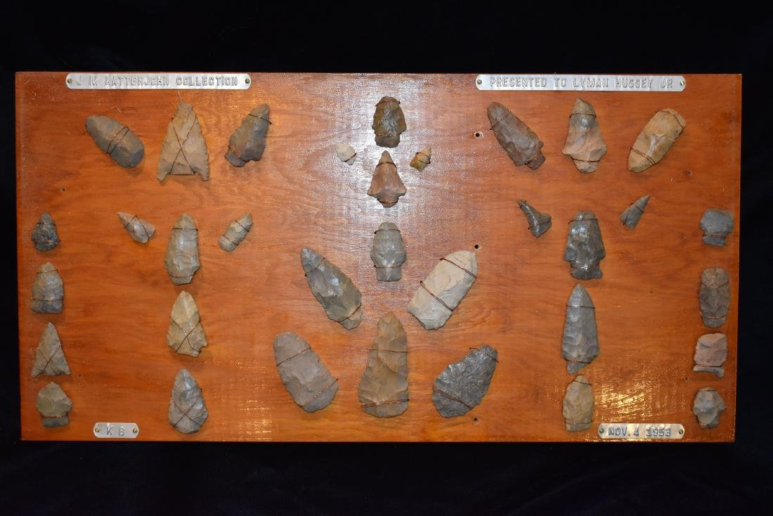 Original Collector Board of Relics from the Lyman