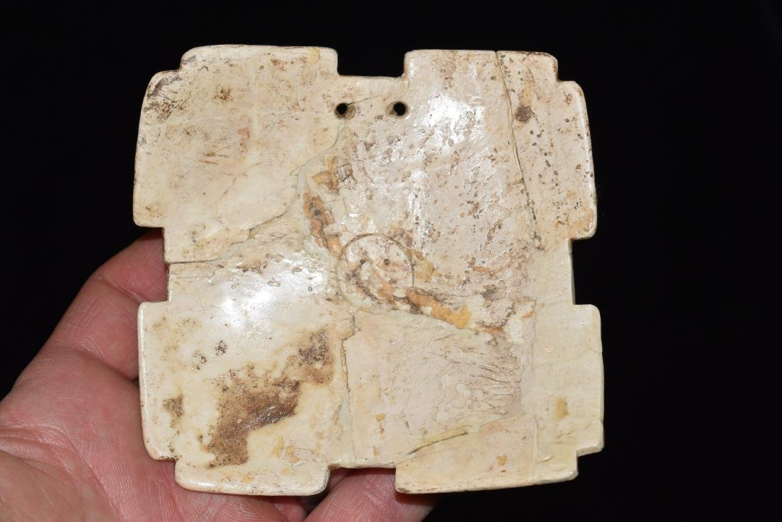 """4""""x4"""" Shell Gorget, Virginia, Restored, Ex Dale and"""