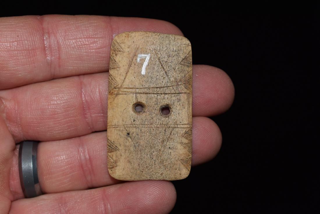 Highly Stylized Engraved Bone Gorget, Fine, Hardin