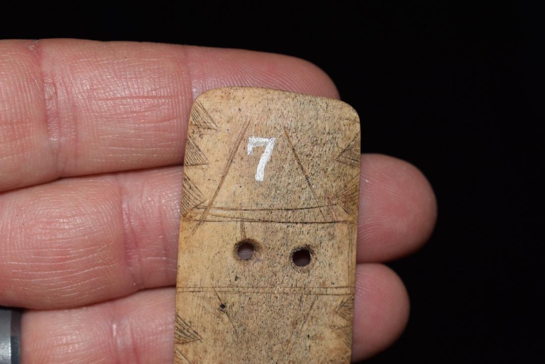 Highly Stylized Engraved Bone Gorget, Fine, Hardin - 2