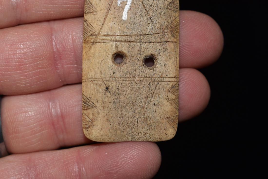 Highly Stylized Engraved Bone Gorget, Fine, Hardin - 3