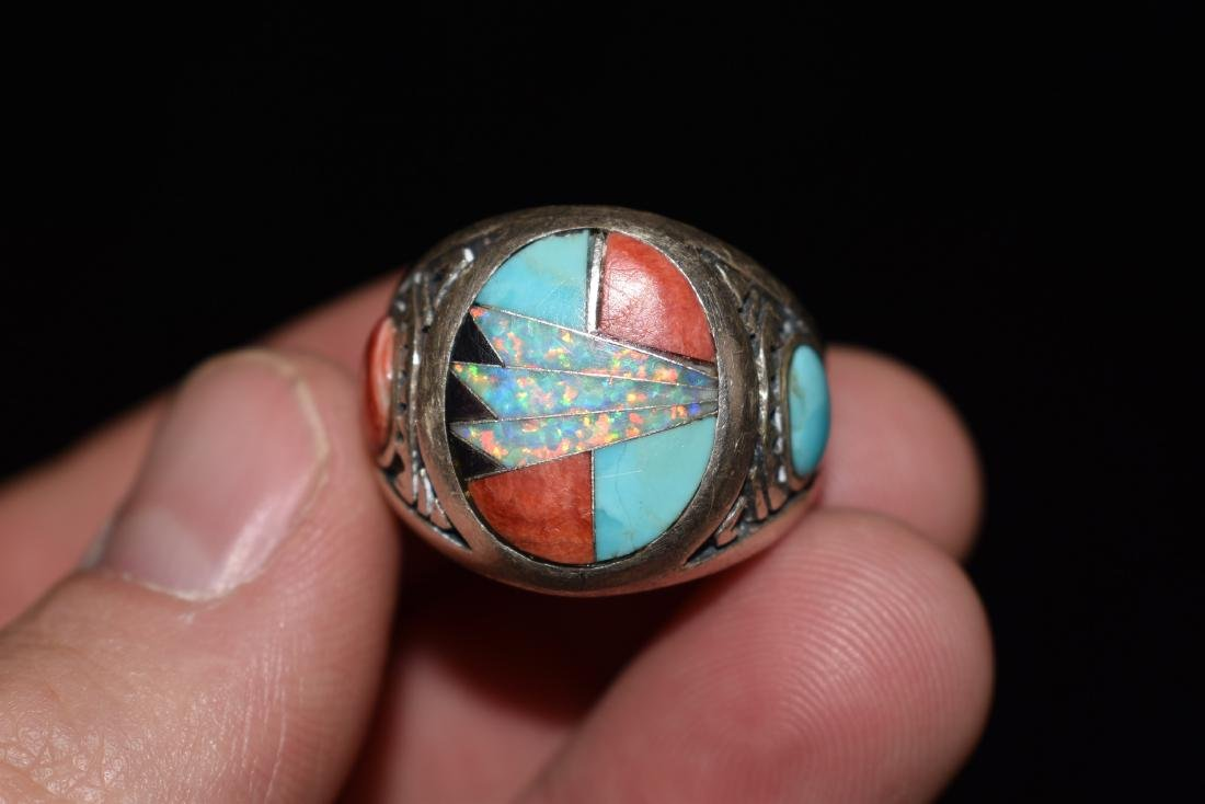 Old Southwest Silver Ring, Jewelry, Turquoise, Sterling