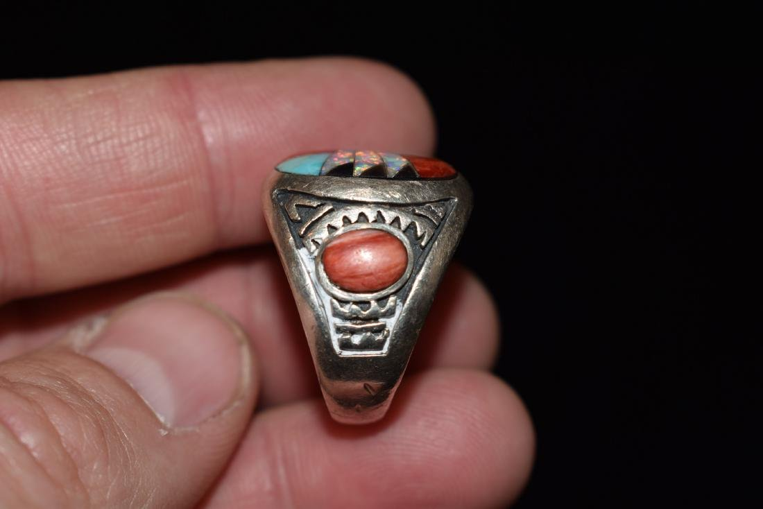 Old Southwest Silver Ring, Jewelry, Turquoise, Sterling - 2