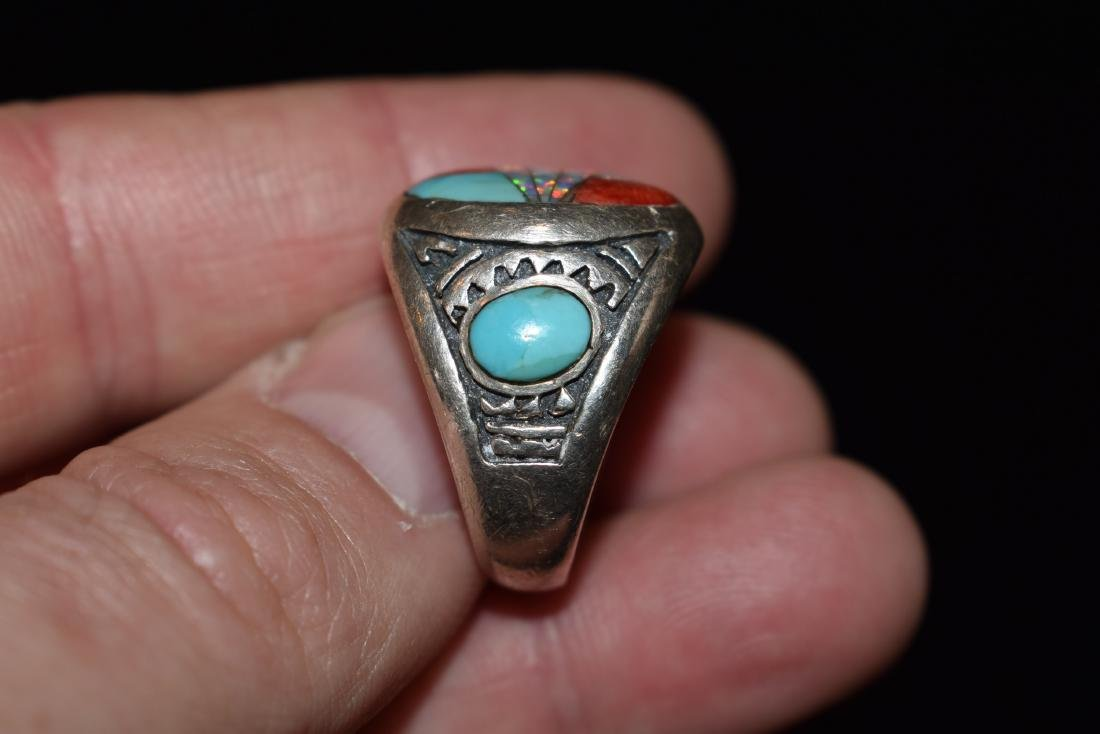 Old Southwest Silver Ring, Jewelry, Turquoise, Sterling - 3
