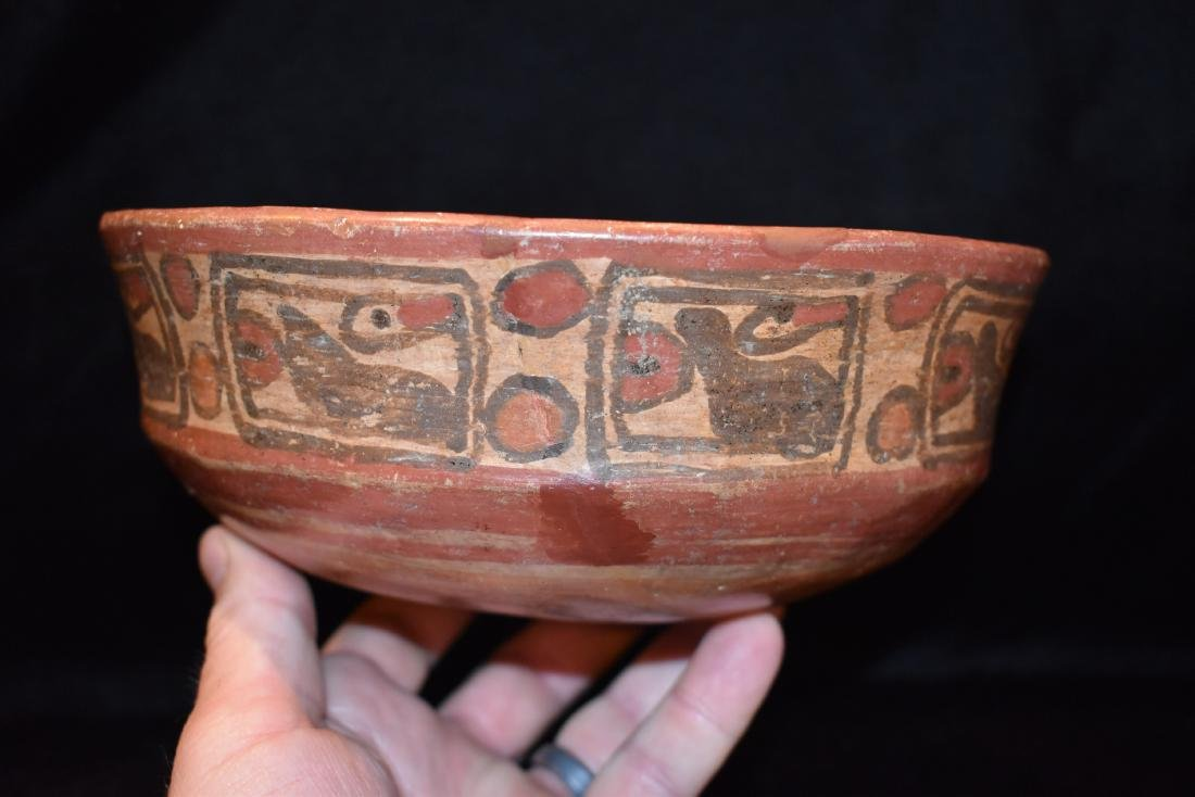 "7.5/8""x3"" Pre-Columbian Pottery Vessel Good Paint and"