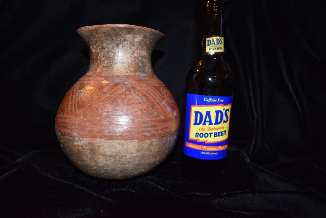 "7"" T 5.1/2 D Pre-Columbian Pottery Vessel, Narino - 8"