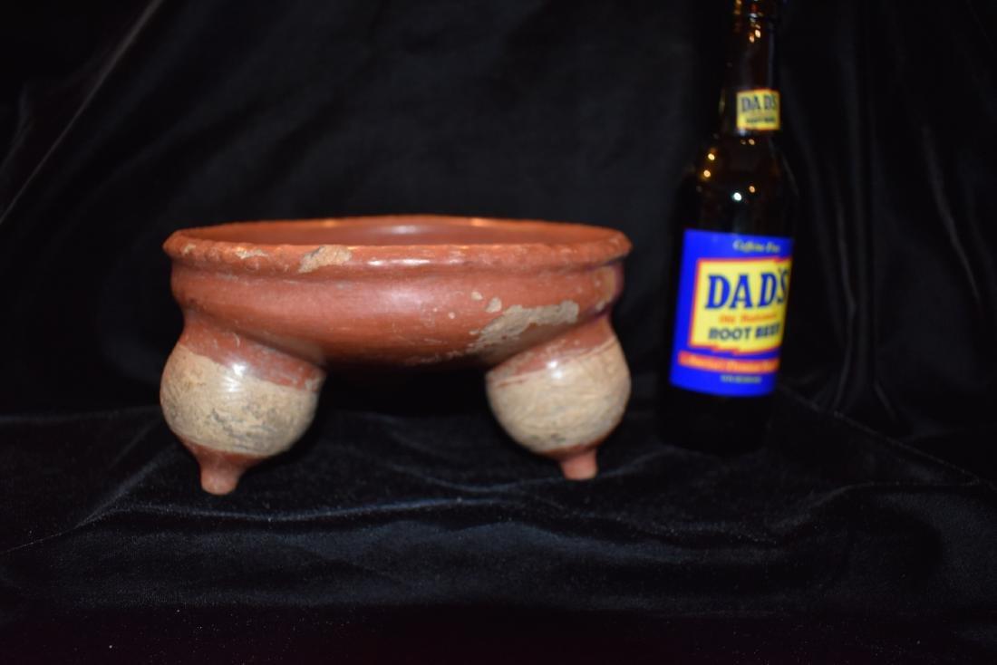 "8"" D 4"" T Pre-Columbian Pottery Vessel Breast Effigy - 7"