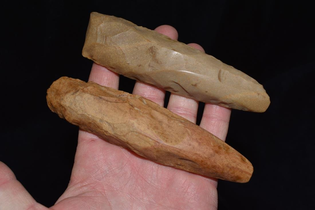 Lot of 2 Polished Chisels, Lyman Hussey Collection