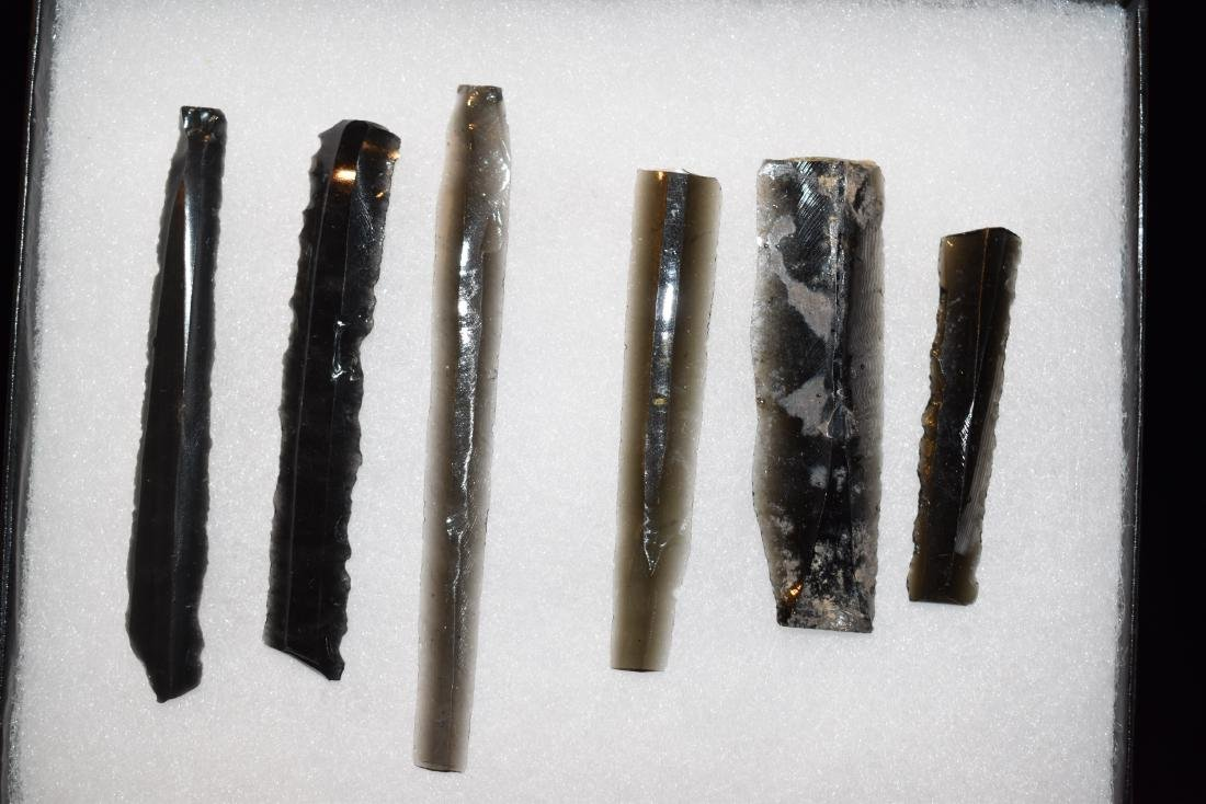 Lot of Obsidian Core Bladelets, Pre-Columbian, Fine,
