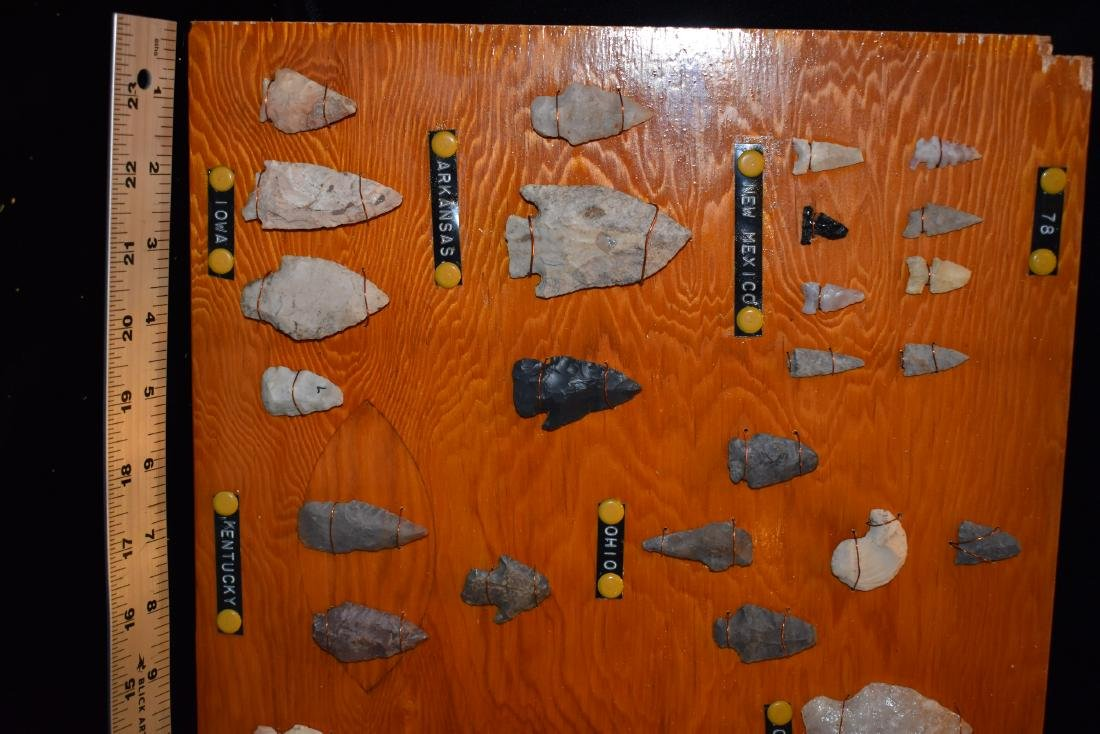Original Collector Board of Relics from the Lyman - 2