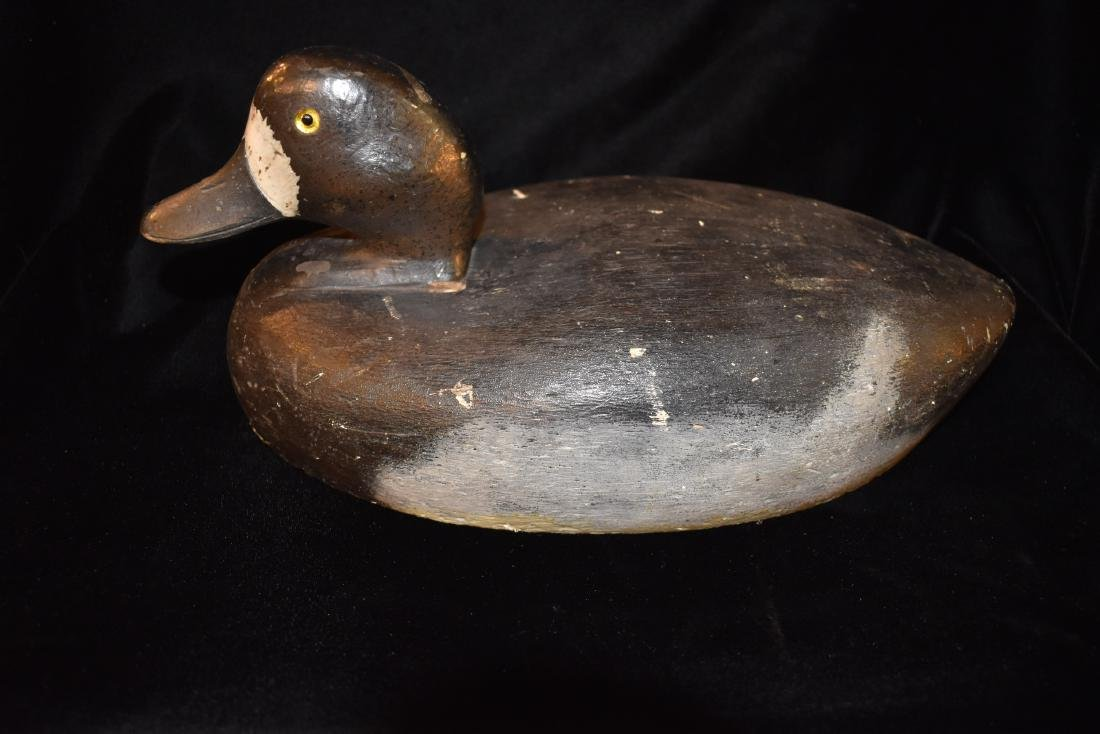 Antique Working Blue Bill Duck Decoy, Carved by D. B.