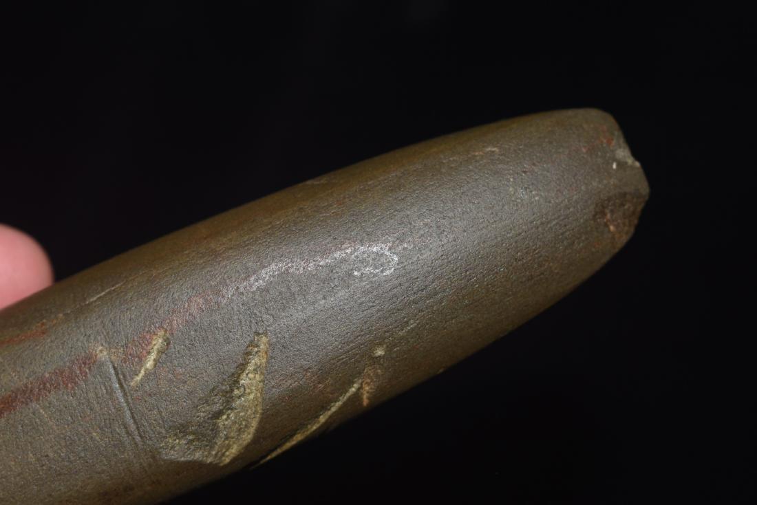 "5"" Greenstone Bar Amulet, Saline Co IL, Dickey COA - 6"