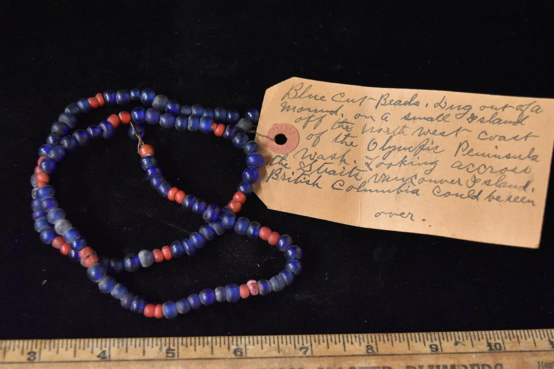Historic Bead Necklace with Documentation Note, Alec