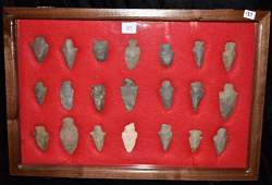 12 x 18 frame of arrowheads found by Jack Baker