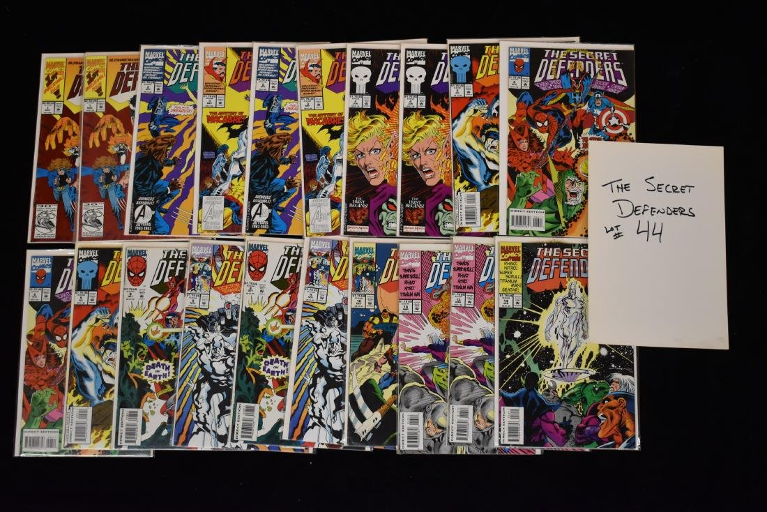 20 issues of The Secret Defenders Comic Book Lot