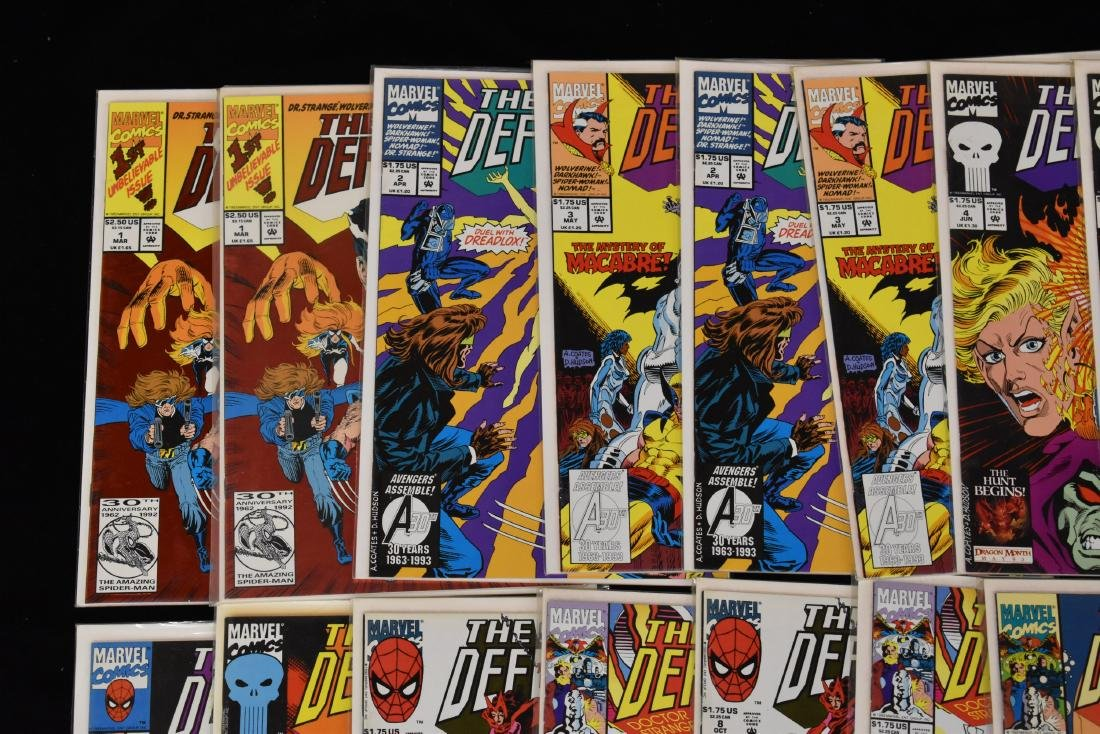 20 issues of The Secret Defenders Comic Book Lot - 2