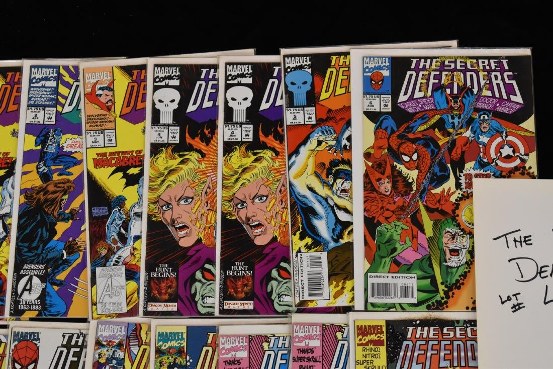 20 issues of The Secret Defenders Comic Book Lot - 3