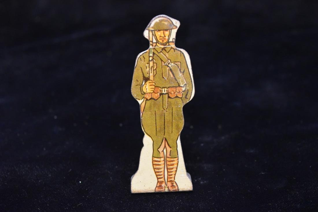 "Marx Tin Soldier US Army ""Doughboy"" Infantry Toy USA"