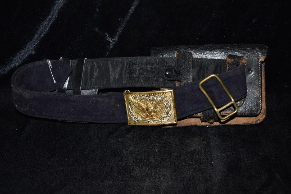 Vintage Belt with Leather Ammo Pouches Early 20th