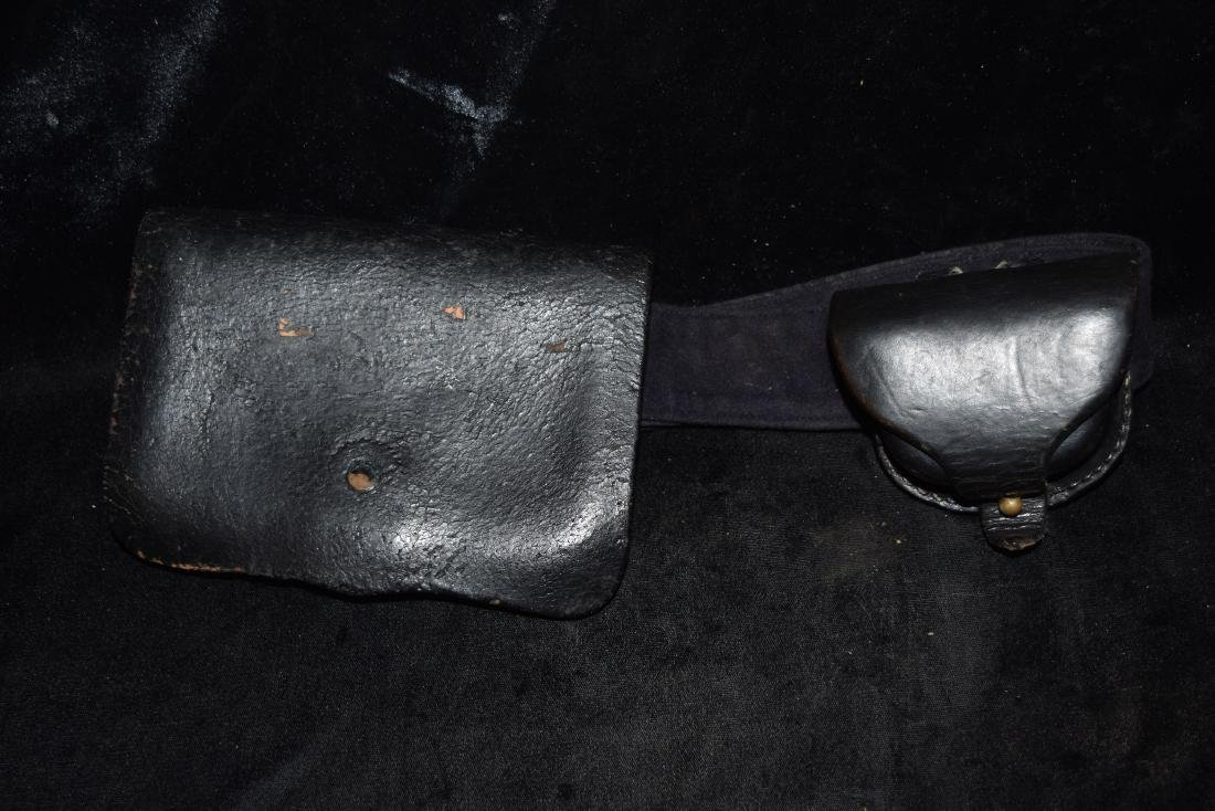 Vintage Belt with Leather Ammo Pouches Early 20th - 2