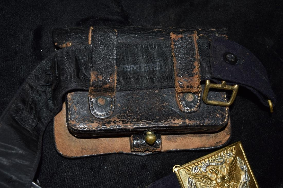 Vintage Belt with Leather Ammo Pouches Early 20th - 6