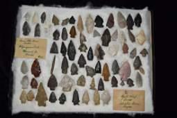 Original Collector Frame of Arrowheads
