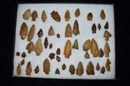 Lot of SE Pennsylvania Jasper Arrowheads