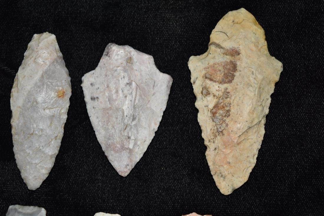 9 colorful group of adena and woodland points, MO - 3