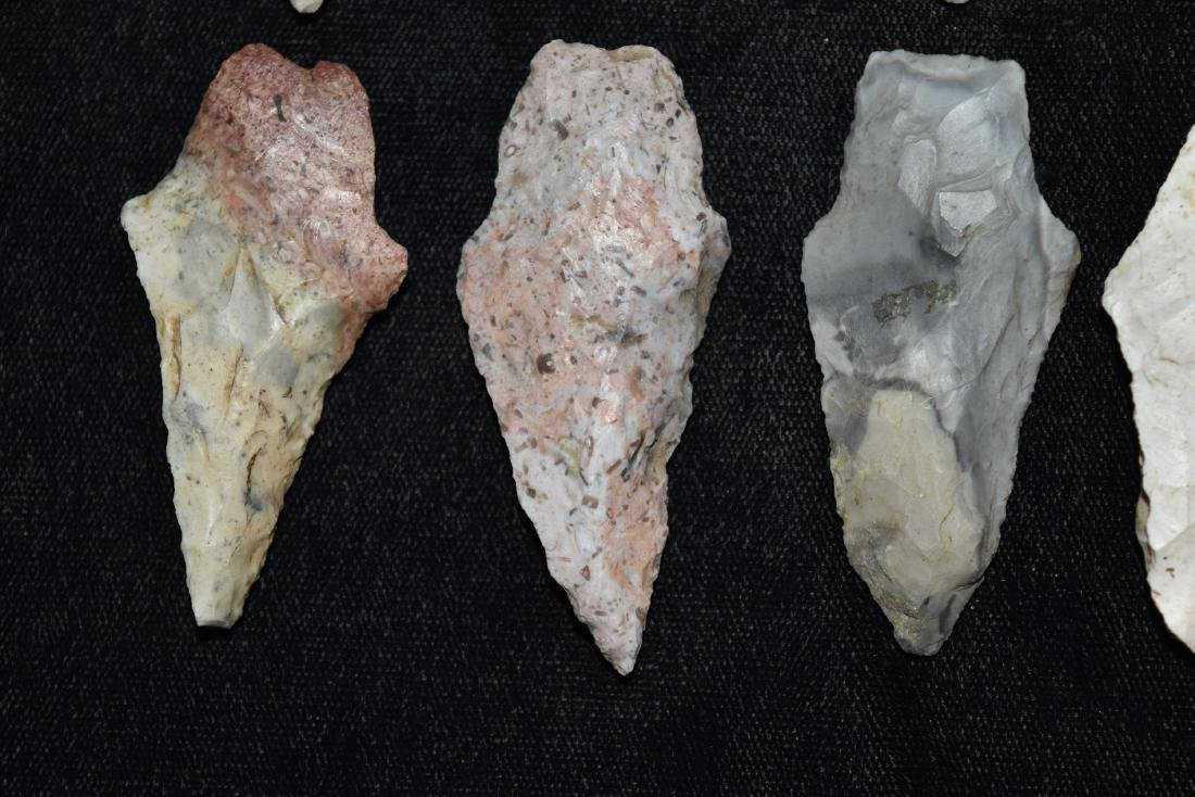 9 colorful group of adena and woodland points, MO - 4