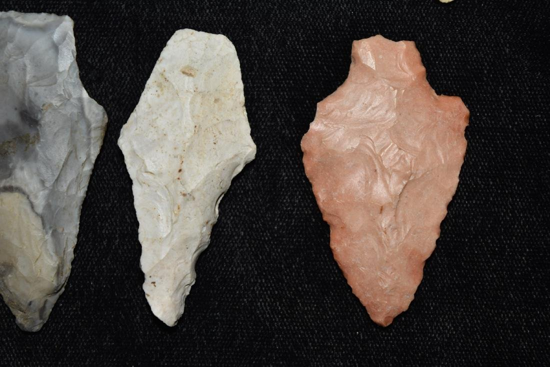 9 colorful group of adena and woodland points, MO - 5