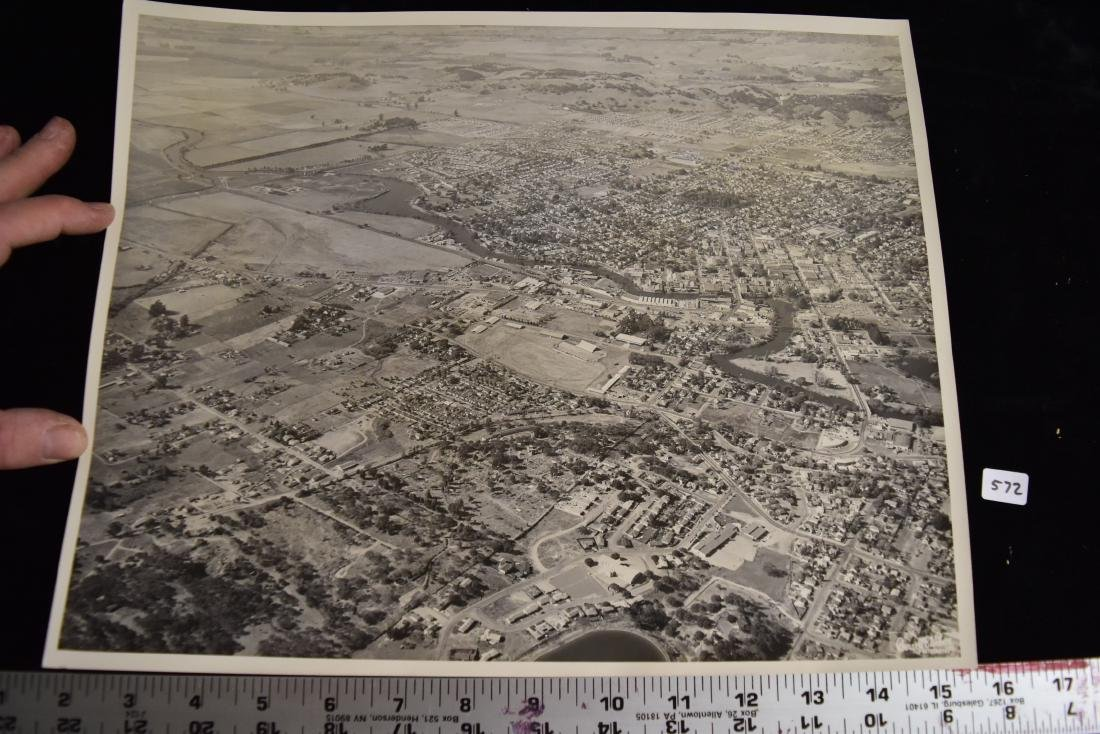 Large Antique vintage, black and white areial veiw of